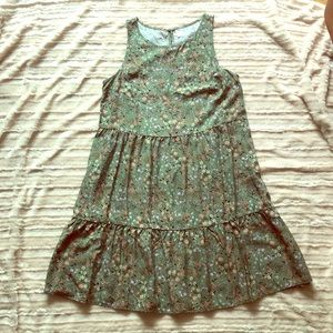 Old navy green floral dress